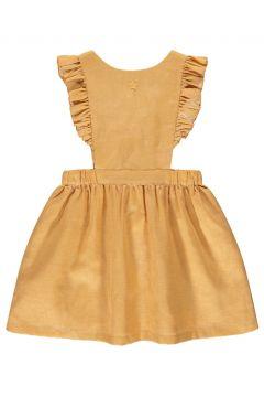 Kleid aus Baumwolle und Leinenmit Rüschen(113867720)