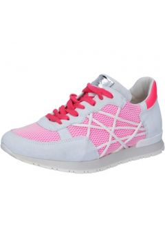 Chaussures L4k3 sneakers blanc daim rose textile BZ445(115399096)