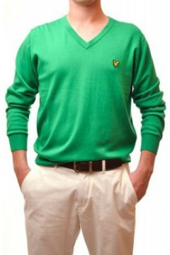 Pull Lyle Scott Pull Lyle and Scott vert col v pour homme(115387379)