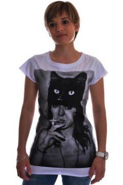 T-shirt Spital Fields London black cat coton(101556459)
