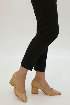 Marjin Bej Kadın Lores Klasik Topuklu Ayakkabı Topuklu Ayakkabı(122134951)