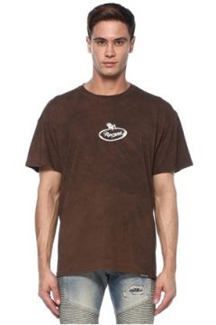 Represent Erkek Kahverengi Logo Baskılı T-shirt S EU(117578377)