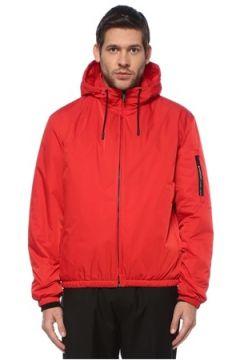 Givenchy Erkek Kırmızı Kapüşonlu Logolu Mont 48 IT(126468835)