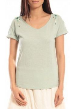 T-shirt Blune T-shirt Larmes de Joie LJ-TF01E13 Vert(115471056)
