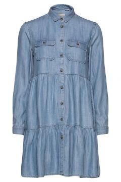 Tiered Shirt Dress Kurzes Kleid Blau SUPERDRY(116612417)