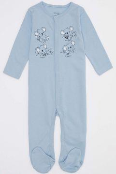 DeFacto Erkek Bebek Baskı Patikli Çıtçıtlı Tulum(125928633)