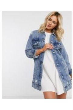 Pull&Bear - Giacca di jeans lunga blu(120385878)