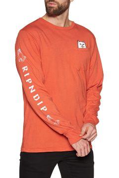 Rip N Dip Lord Nermal Langarm-T-Shirt - Texas Orange(108485011)