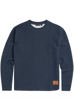 Animal Structured Sweater blauw(95395227)