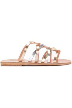 Sandales Ancient Greek Sandals Pantoufle modèle Donousa en cuir argenté et platine(101538341)