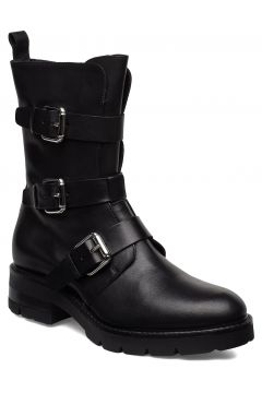 Bikerboot Shoes Boots Ankle Boots Ankle Boots Flat Heel Schwarz APAIR(114160015)