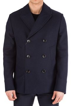 Men's double breasted coat overcoat(118071625)