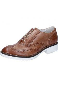 Chaussures Crown élégantes marron cuir BZ932(115399264)