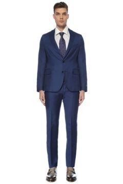 Pal Zileri Erkek Mavi Yün Takım Elbise 46 IT(126433465)
