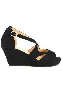 Sandales Cendriyon Compensées Noir Chaussures Femme(115425649)