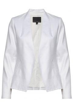 Collarless Linen-Cotton Blazer Blazer Jackett Weiß BANANA REPUBLIC(114153737)