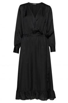 Chita Dress Kleid Knielang Schwarz MOS MOSH(116303855)