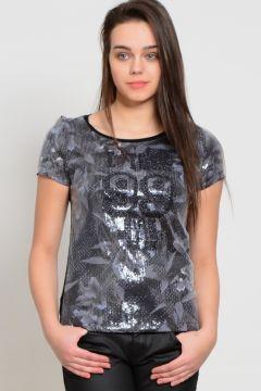 Only Baskılı Siyah T-Shirt(118057654)