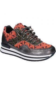 Chaussures 2 Star Gold GOLD sneakers orange textile noir glitter BX35(98483786)