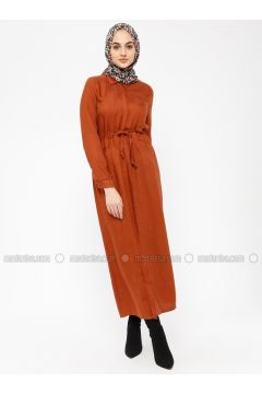 Terra Cotta - Point Collar - Unlined - Dresses - SELLY(110330475)