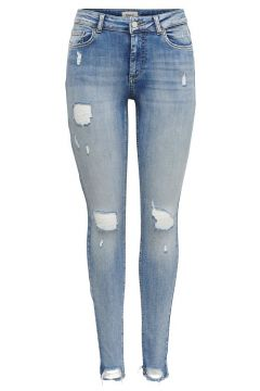 ONLY Onlblush Mid Ankle Destroy Skinny Fit Jeans Damen Blau(108627456)