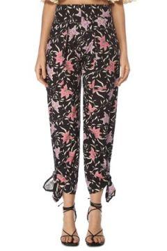 Isabel Marant Kadın Gaviao Siyah Çiçekli Paçası Bağcıklı Pantolon Lacivert 34 FR(117771998)