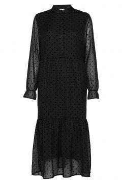Dress W. Gatherings At Skirt Part Kleid Knielang Schwarz COSTER COPENHAGEN(114163456)