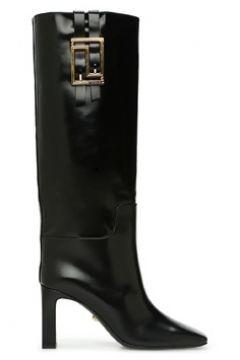 Versace Kadın Meander Siyah Topuklu Deri Çizme 36 EU(123342202)