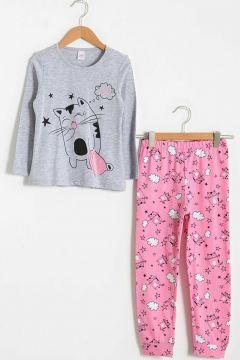Çocuk Kız Çocuk Baskılı Pijama Takımı(127690893)
