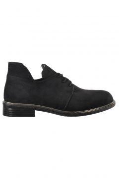 Ermod 105 Siyah Süet Kadın Ayakkabısı(109191223)