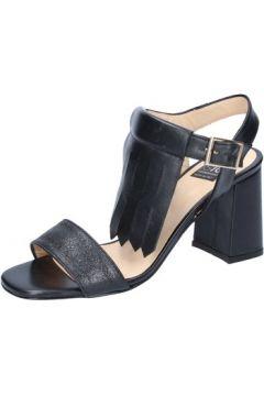 Sandales Islo sandales noir cuir BZ516(115393999)