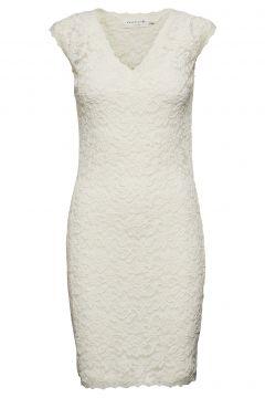 Dress Ss Kleid Knielang Weiß ROSEMUNDE(114165064)