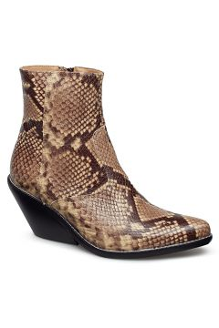 Evie Snake Brown Shoes Boots Ankle Boots Ankle Boots With Heel Braun HENRY KOLE(114159058)