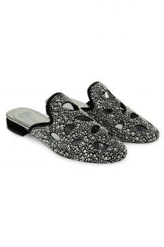 Vario Kadın Siyah Gümüş Süet Terlik R5496(124470884)