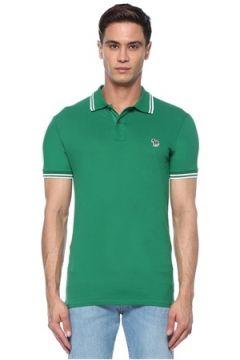 PS by Paul Smith Erkek Yeşil Polo Yaka Logolu T-shirt S EU(117578440)