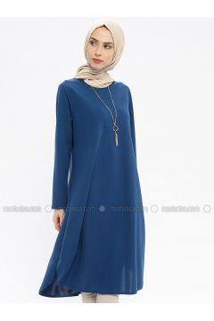 Blue - Indigo - Crew neck - Tunic - ECESUN(110337600)