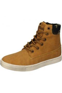 Boots enfant Blaike sneakers jaune cuir textile AD697(115393762)