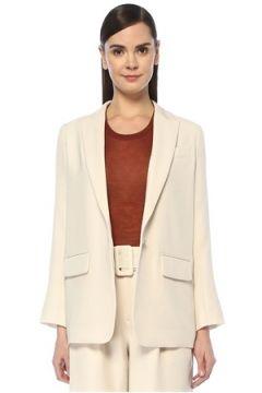 Vince Kadın Krem Kırlangıç Yaka Blazer Ceket Gri 2 US(108810143)