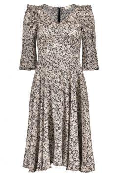 Kleid aus Seide Blumenmuster(117873962)