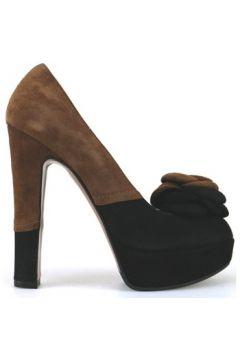 Chaussures escarpins Gianni Marra escarpins marron noir daim AJ296(115399892)