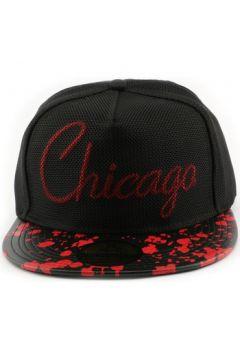 Casquette Hip Hop Honour Snapback Hip Hop Chicago noire et rouge(115456008)