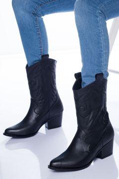 Ayakkabı Frekansı Steven Kadın Siyah Bot(118648464)