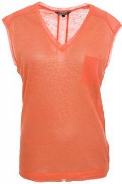 T-shirt Tommy Hilfiger Top Badria rose corail pour femme(88442626)