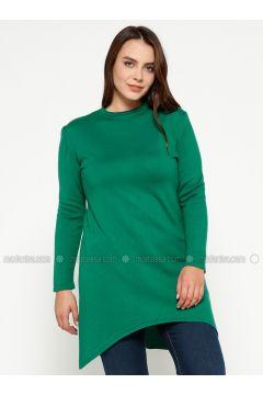 Green - Crew neck -- Plus Size Jumper - Efraze(110329597)