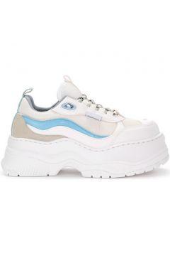 Chaussures Chiara Ferragni Baskets Chiara Ferragni en cuir et tissu blanc(115469062)