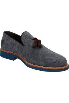 Chaussures Di Mella mocassins bleu textile AD330(115393724)
