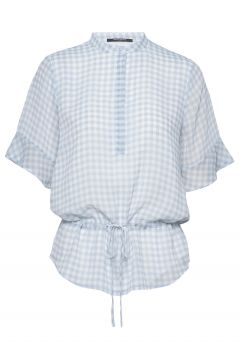 Checks Beatrice Shirt Blouses Short-sleeved Blau BRUUNS BAZAAR(114154742)