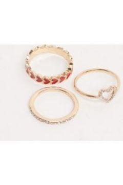 ALDO - Chisa - Confezione multipack di anelli con cuore-Multicolore(112975174)