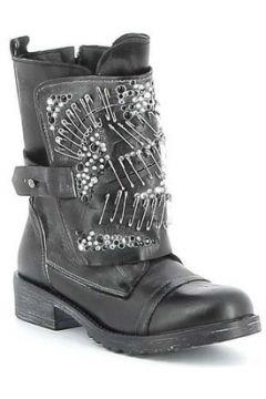 Boots Erman\'s Boots cuir avec lacets et sangle fantaisie(88531275)