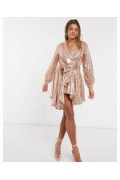 Forever U - Vestito corto stile blazer oro rosa decorato(124088064)